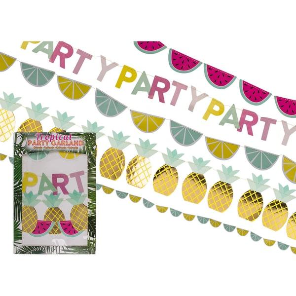4er-Set Girlande Tropical Party L: Ca. 140 m
