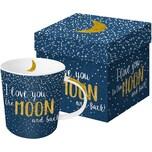 Ppd Kaffeebecher Moon Love Mit Goldapplikation In Geschenkbox