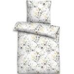 Biberna Soft-Seersucker Bettwäsche mit Reißverschluss 135x200 80x80