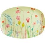 rice Melamin Servier-Teller Summer Flowers 30x22cm