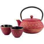 Bredemeijer 3Tlg. Gusseisen Tee-Set Shanghai Gold In Geschenk-Box