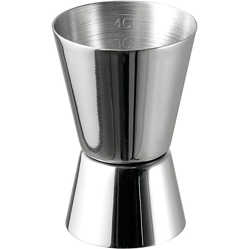 APS Edelstahl Cocktail Doppelmaß 2cl 4cl