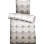 Biberna Mako-Baumwoll-Satin Bettwäsche mit Reißverschluss 135x200 80x80