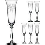 Bohemia Selection 6er-Set Sektglas Romance 190ml