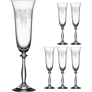 Bohemia Selection 6er-Set Sektglas Romance 190ml