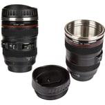Coffee-Mug Kameraobjektiv Mit  Edelstahleinsatz Ca. H15 cm