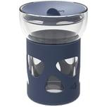 LEONARDO Glas Coffee-to-go Becher doppelwandig mit Silikonmantel 340 ml
