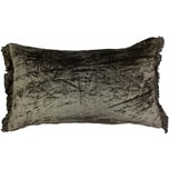 Linen & More Kissenhülle Crushed Velvet Fringes 30x50cm