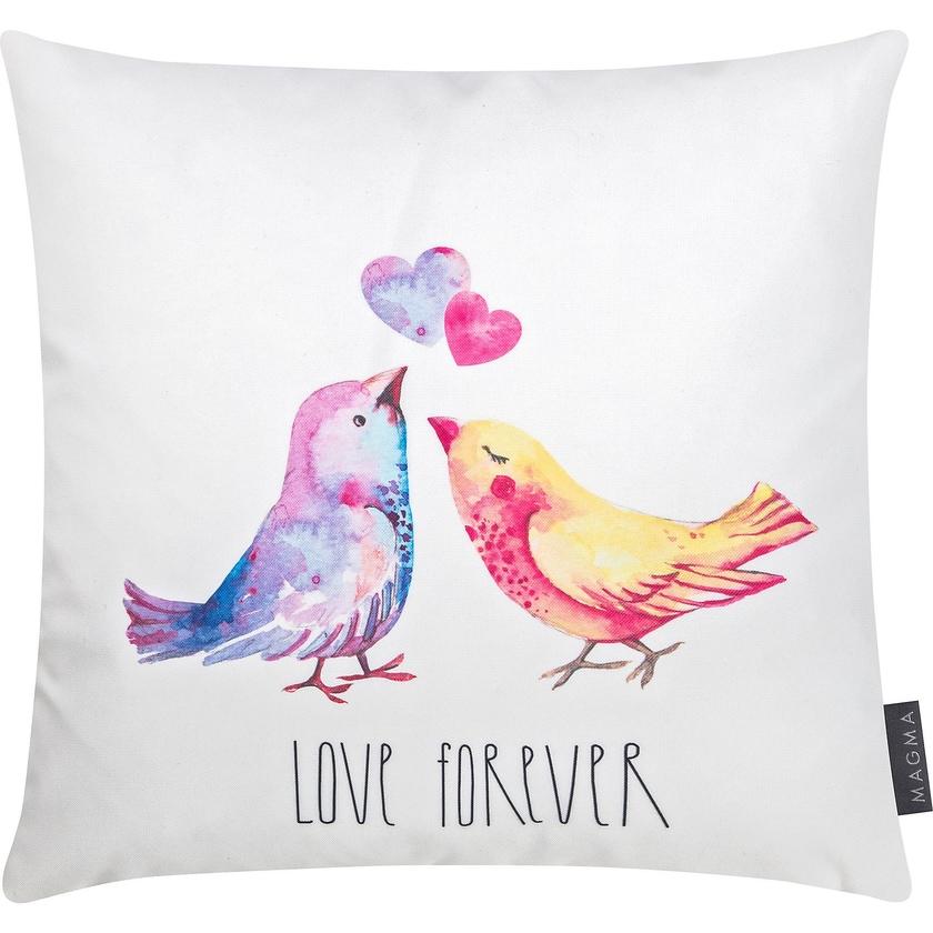 "MAGMA Dekokissen ""Lovebirds"" 40x40 cm"