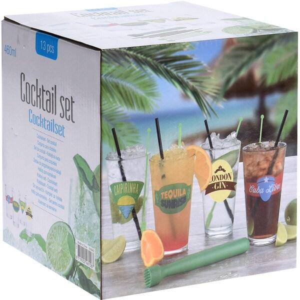 13 tlg Longdrink-Gläser mit verschiedenen Motiven je 460 ml
