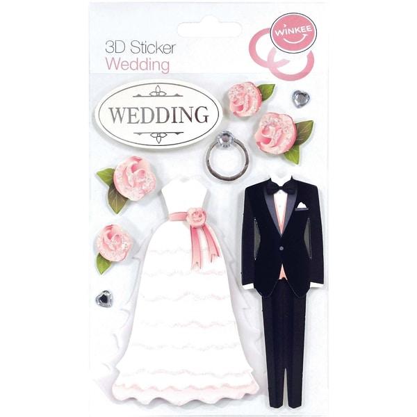 9-tlg. 3D Sticker Set Hochzeit