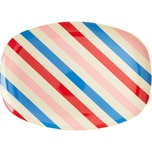 rice Melamin Servier-Teller Candy Stripes 30x22cm