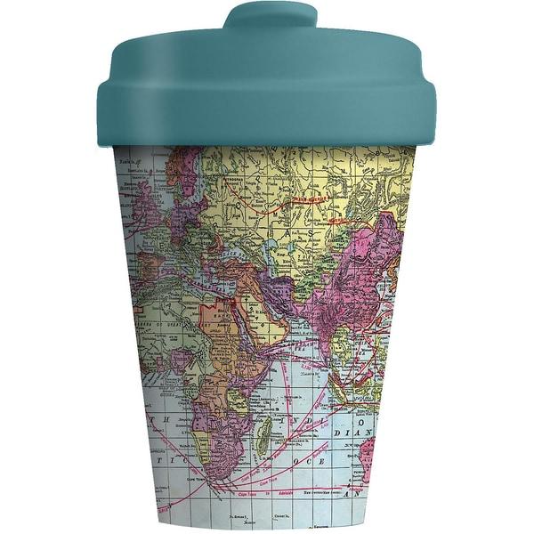 """Bambus Coffee to go Travel Mug """"Around the World"""""""