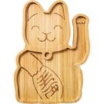"Donkey Products Bambus Teller ""Lucky Cat"" 22 x 16 x 15 cm"