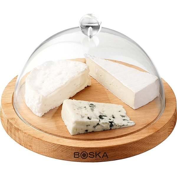 Käse-GlockeLife mit Eichenholzbrett und Kunststoffhaube