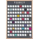 """GIFT REPUBLIC Rubbel-Poster """"100 Filme"""" H60 x B42 cm"""