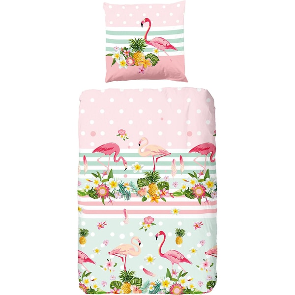 Good Morning Bedlinens Bettwäsche Flamingo 135X200 80X80 cm