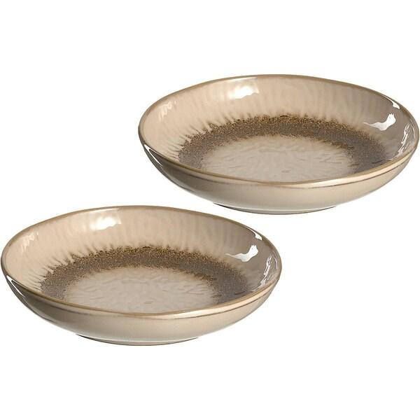 "LEONARDO 2er-Set Keramik Teller ""Matera"" tief Ø21 cm"