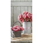 """XL Banner Bild """"Pink Flower"""" rollbar H180 cm"""