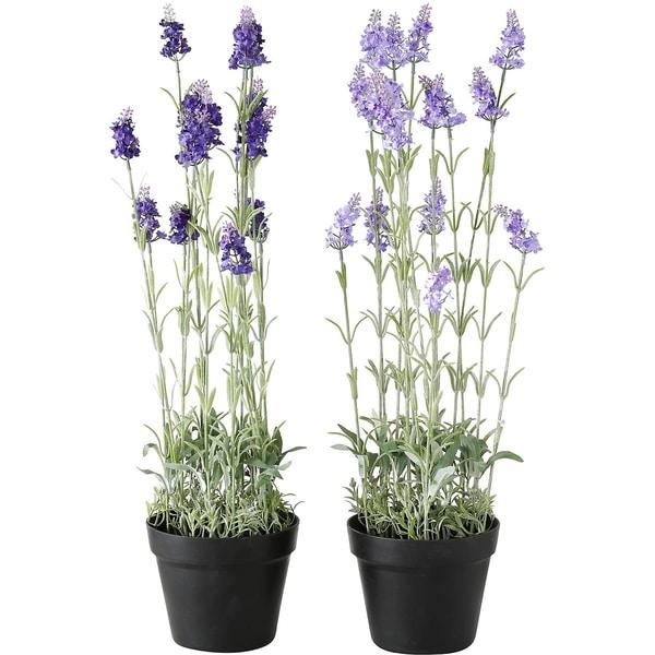 2Kunstpflanzen Lavendel im Topf je H65 cm