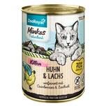 ZooRoyal Minkas Naturkost Kitten Huhn & Lachs verfeinert mit Cranberries & Lachsöl