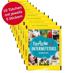 PANINI 50er Pack (10 Tütchen) Sammelsticker Tierische Internetstars