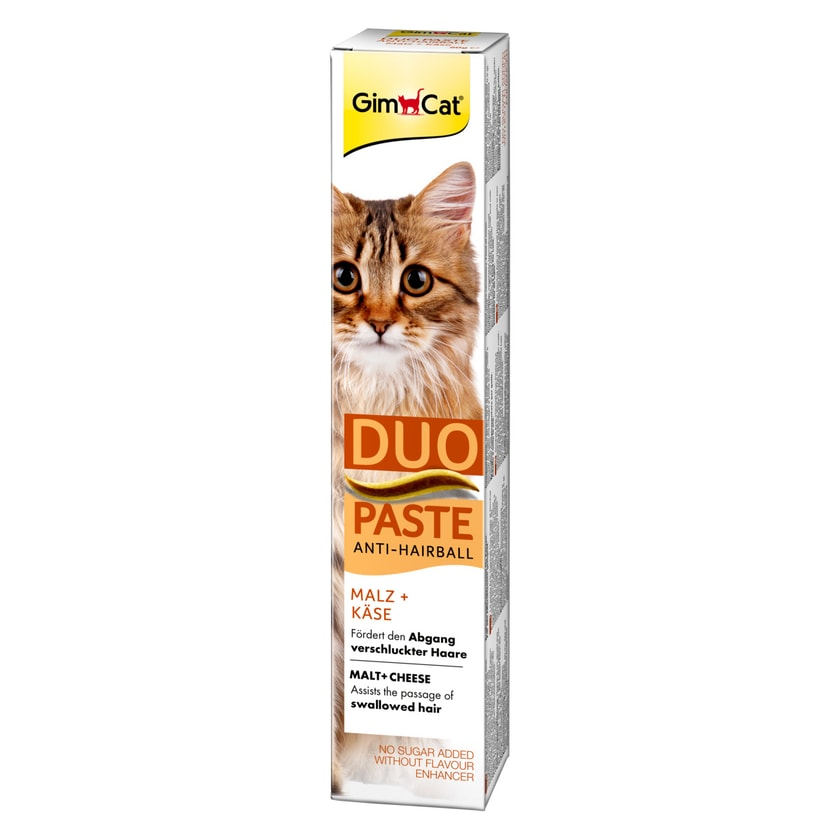 GimCat Anti-Hairball-Duo-Paste Käse + Malz 50g