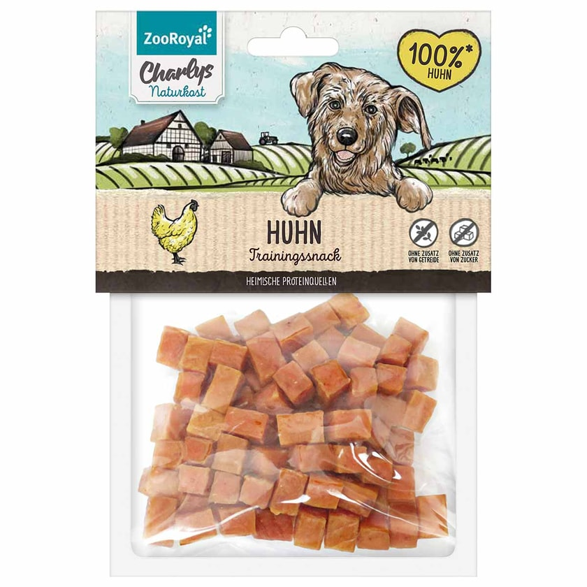 ZooRoyal Charlys Naturkost Trainingssnack Huhn 100g
