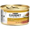 Gourmet Gold Zarte Häppchen Truthahn & Ente Katzenfutter 12x85g