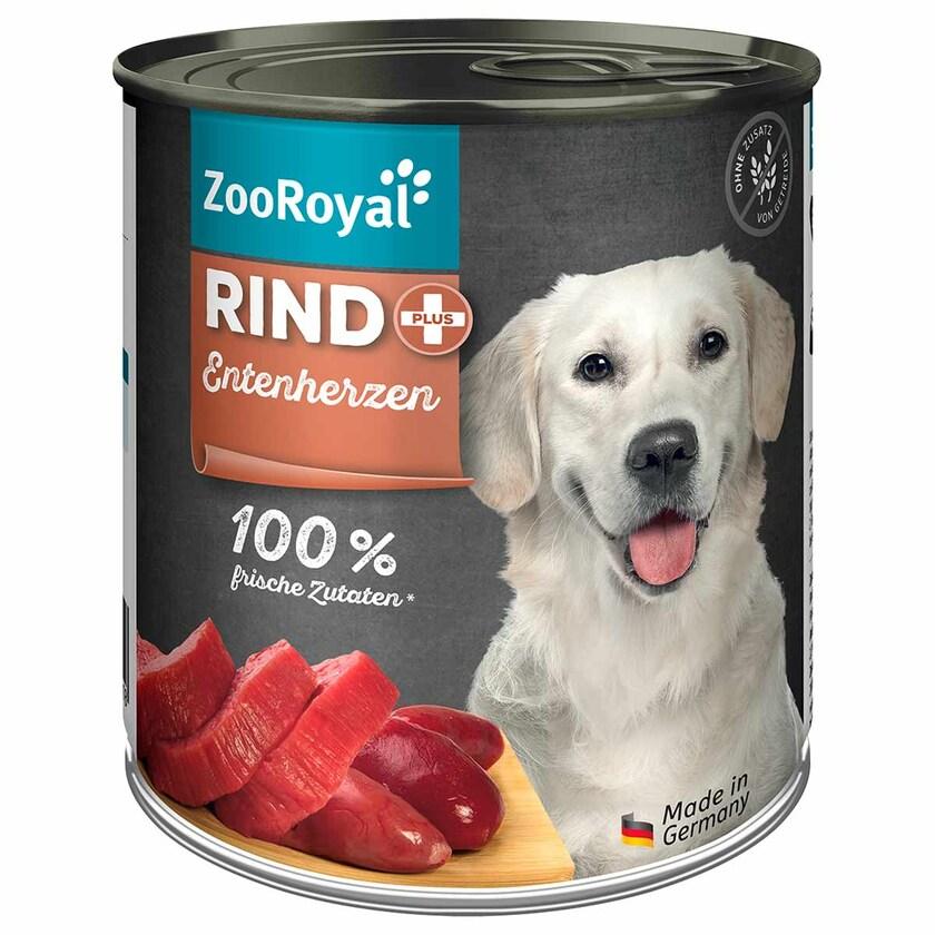 ZooRoyal Rind + Entenherzen 800g
