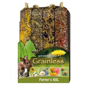 JR Farm Nagersnack Grainless Farmys XXL Kaninchenfutter 4x450g
