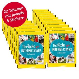 PANINI 100er Pack + 10 GRATIS (22 Tütchen) Sammelsticker Tierische Internetstars