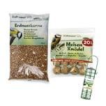 Erdtmann's 20 Meisenknödel ohne Netz + 1 Knödelboy + Erdnusskerne 5 kg