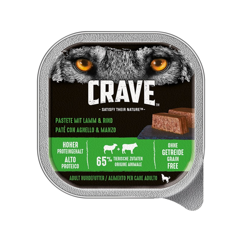 Crave Adult Pastete mit Lamm und Rind