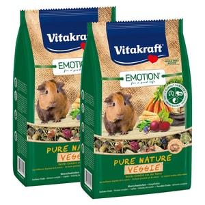 Vitakraft Emotion Pure Nature Veggie Meerschweinchen 2x600g
