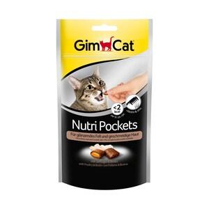 GimCat Katzensnack Nutri Pockets Geflügel + Biotin 60g
