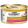 Gourmet Gold Feine Pastete Forelle & Tomaten Katzenfutter 12x85g