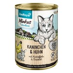 ZooRoyal Minkas Naturkost Adult Kaninchen & Huhn mit Kartoffeln & Distelöl