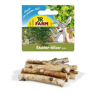 JR Farm Knabber-Hölzer Birke für Nager Kaninchenfutter 200g