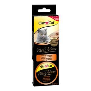 GimCat Pâté Deluxe mit Geflügel 3x21g Katzensnack