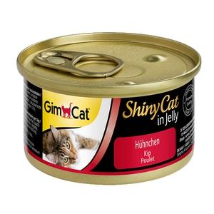 GimCat ShinyCat Hühnchen 6x70g