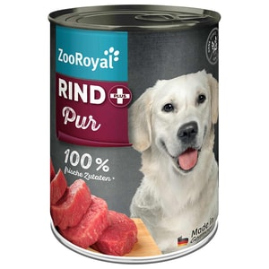 ZooRoyal Rind pur Hundefutter 400g