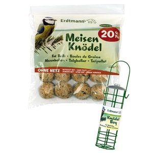 Erdtmann's 20 Meisenknödel ohne Netz + 1 Knödelboy Vogelfutter