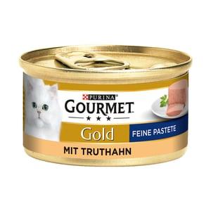 Gourmet Gold Feine Pastete Truthahn Katzenfutter 12x85g