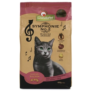 GranataPet Katzen-Trockenfutter Symphonie No. 2 Lachs 400g