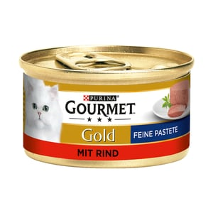 Gourmet Gold Feine Pastete Rind Katzenfutter 12x85g