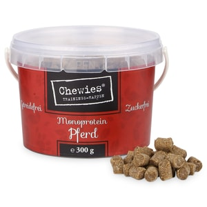 Chewies Hundesnack Trainings-Happen Pferd 300g