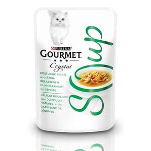 GOURMET Crystal Soup Köstliche Brühe mit Huhn und Gemüse Ergänzungsfutter 40g